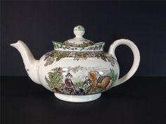 Copeland Spode Spode's Byron Green Large Tea Pot with Lid England #CopelandSpode