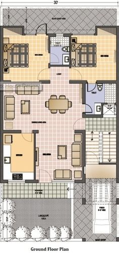House Plan for 30 Feet by 30 Feet plot (Plot Size 100 ...
