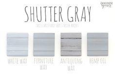 Shutter Gray Finishes #mmsmilkpaint #shuttergray