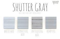 Shutter Gray Finishes #mmsmilkpaint #shuttergray