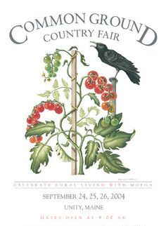 MOFGA - 2003 Common Ground Country Fair Poster. Repinned by www.mygrowingtraditions.com