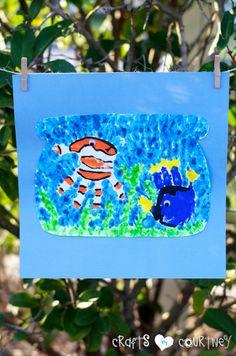 Make a Finding Nemo Inspired Handprint Fishbowl