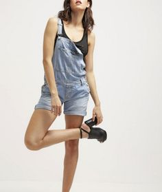 Pepe Jeans SUGAR Ogrodniczki szorty jeansowe denim