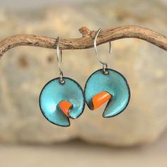 Aqua Orange earings