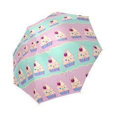 Cupcakes Foldable Umbrella Cupcakes, Stripes, Umbrellas, Model, Pattern, Fun, Cupcake, Scale Model, Lol