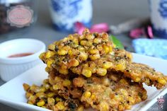 Because these crunchy corn fritters are so light, crispy and ADDICTIVE, you might easily finish a few at one go even before they hit the dining table. The best part is, you could easily make the corn batter ahead of time and fry time straight from the fridge whenever you want. Leftover batter keeps well in the fridge for up to 2 days.