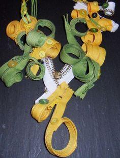 http://de.dawanda.com/product/44360938-AprilWiese Tolle, sehr außergewöhnliche Kette.  Wer auffälligen Schmuck mag trifft bei dieser Kette die richtige Wahl!  Die Kette besteht aus weißen, grün...