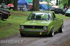 Green VW Caddy,