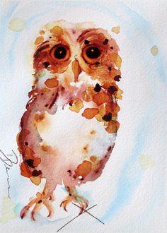 Whooo Me? Painting  - Whooo Me? Fine Art Print