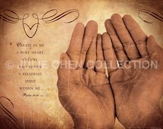 Psalm 51:10 Scripture Art Life Verse Design