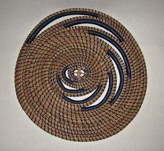 Blue Swirl Pine Needle wall decor