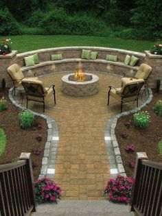 This is so nice, you could incorporate a barbecue pit too.