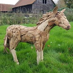 Suppliers of a spectacular life-size driftwood horse, small horse sculpture and driftwood horse heads. Horse Sculpture, Animal Sculptures, Tree Roots, Outdoor Settings, Horse Head, Driftwood, Teak, Exterior, Horses