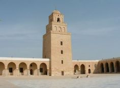 """Great Mosque of Kairouan  Hegira 221 / AD 836 Umayyad, Abbasid Kairouan, Tunisia Known also as the Mosque of 'Uqba Ibn Nafi' who was the founder of the Abbasid city of Kairouan, and the Great Mosque."""