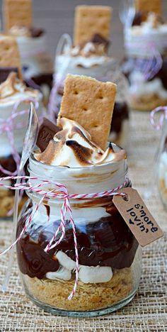 Smores Lovin' In A Jar Recipe ❤︎ Yumm! #diy #gift #idea #party