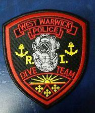 WEST WARWICK, RHODE ISLAND POLICE DIVE TEAM SHOULDER PATCH
