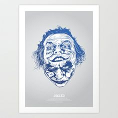 Joker  Art Print by Tomasz Zawistowski - $22.88