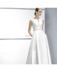 Main Image - Jesús Peiró Embellished Waist Mikado A-Line Dress (In Stores Only) Stunning Wedding Dresses, Used Wedding Dresses, Wedding Dress Styles, Wedding Suits, Wedding Attire, Bridal Dresses, Wedding Gowns, Bridesmaid Dresses, Wedding Blog