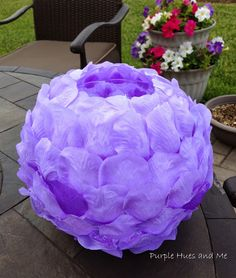 Lilac Rose Petals Luminary is featured in Bowdabra Feature Friday Summer Projects..!!