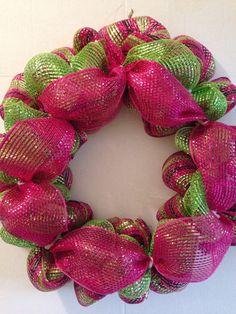 Christmas wreath deco mesh wreath home decor by FunWithWreaths