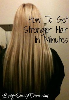 How to Get Stronger Hair in Minutes  Yes it's as simple as cracking an egg into your hands and rubbing it in your hair. Once you feel that you are ready to rinse your hair, just wash it with shampoo and enjoy beautiful shiny and stronger hair!