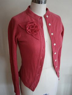 Vintage cashmere cardigan resized and updated.