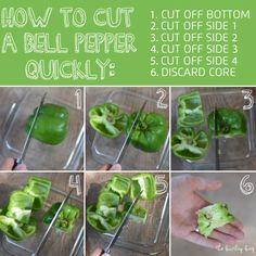 how to cut a bell pepper quickly - The Burlap Bag