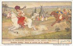 [Matrimonio per ratto. Asia Centrale], 1941 Horse Print, Reproduction, Asia, Ephemera, 1930s, Wedding Ceremony, The Past, Horses, Vintage