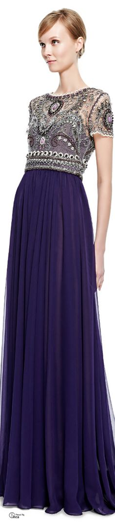 Marchesa ● Fall 2014, Embroidered Bodice Gown