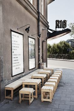 Bio Rio (Stocolm). Versatile cinema, coffe and meeting place. - Design by 1:2:3 and Kristoffer Stundin