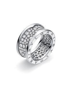 Bvlgari White Gold B.Zero1 Diamond Ring at London Jewelers!