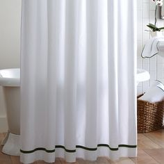 Peacock Alley Tailored Pique Cotton Shower Curtain | AllModern