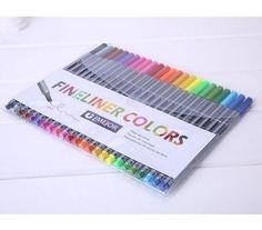 24 fineliners pens 24-color pastel set best quality colorful marker pens arts painting pencils a set 24 children pensPacking ran