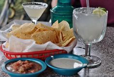 Margaritas, Chips and Salsa. #chuys