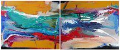 Paulo MOLUAP Díptico 125x100 cm cada tela o.s.t. - 2014