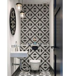 Small powder rooms allow for the most creativty Vi… Eclectic Bathroom, Diy Bathroom Decor, Bathroom Styling, Bathroom Interior Design, Small Toilet Room, Tiny Powder Rooms, Oak Bedroom Furniture, Tiny Bathrooms, Toilet Design