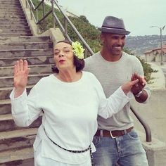 Shemar Moore with his mom...Love this!