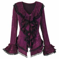 Irridescent Ruffled Top - New Age & Spiritual Gifts at Pyramid Collection
