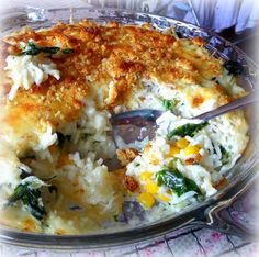 Escalloped Rice with Cheese from The English Kitchen
