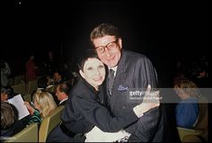 Zizi Jeanmaire and Yves Saint Laurent at 'Le Chat Botte' ballet in 1985.