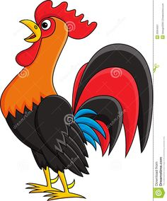 Illustration of Rooster cartoon vector art, clipart and stock vectors. Rooster Funny, Cartoon Rooster, Cartoon Kunst, Cartoon Drawings, Cartoon Art, Cartoon Images, Pencil Art Drawings, Easy Drawings, Rooster Illustration