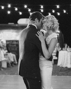 """The newlyweds had a special performer sing their first dance song—Johnny Mathis. """"He is an American legend and a golfing buddy of my stepdad's, and they play music together sometimes,"""" Leah says. """"We were so thrilled that he was able to be a part of our big day."""""""