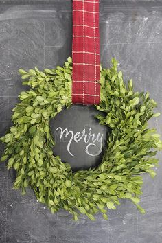 Make a boxwood wreath using fresh boxwood clippings. Perfect addition to festive holiday decor that can also be used year-round with a different ribbon. Check out DeGroot's Nurseries for all your DIY needs for your Holiday decorating! Boxwood Wreath Diy, Diy Wreath, Indoor Wreath, Holly Wreath, Wreath Making, Wreath Ideas, Outdoor Christmas, Christmas Wreaths, Christmas Crafts