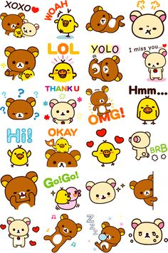 Free #Rilakkuma stickers for Facebook ( ´ ▽ ` )ノ