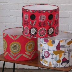 lampshades hand made from beautiful vintage fabrics