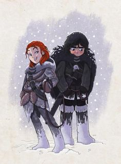 Game of Thrones: Jon snow and Ygritte by Alon Boroda