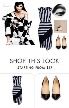 """""""Untitled #43"""" by namka88 ❤ liked on Polyvore featuring WithChic, Christian Louboutin and Burberry"""