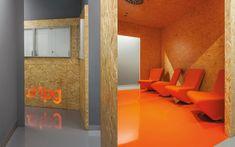 We are a global and creative design studio in Geneva, Tokyo and Beijing. Partitions, Offices, Creative Design, Oversized Mirror, Architecture Design, Orange, Space, Studio, Interior