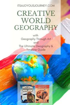 World geography can be personalized and fun when you add Geography Through Art and The Ultimate Geography & Timeline Guide by GeoMatters to your high school homeschool curriculum line up! learning geography through art | teaching geography through art | geography matters | world geography high school | world geography homeschool | homeschool geography curriculum | homeschool geography curriculum high schools