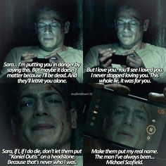 I'm not crying 😭😭😭 TV Time - Episode Comment<br> by Maëva Pedraza about Prison Break, Season 05 Episode 03 Michael Scofield, Prison Break 5, Prison Break Quotes, Prison Break Zitate, Wentworth Miller Prison Break, Michael And Sara, Leonard Snart, Broken Love, Broken Quotes